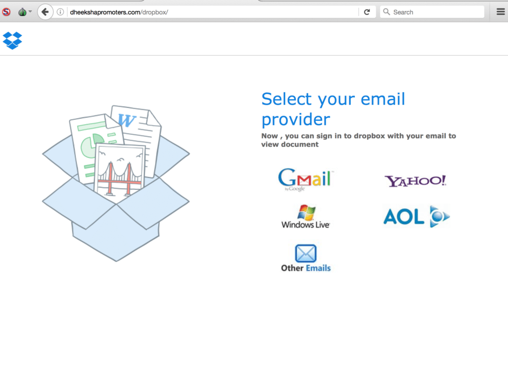 Figure 3: Here is the 2ld of that domain dheekshapromoters.com, which serves as an index page for many other phishing sites - Cisco Umbrella Blog