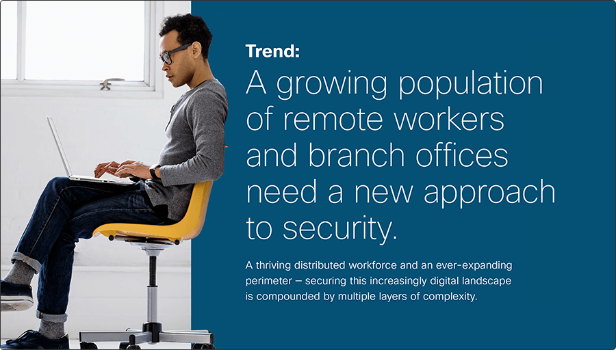 Image of the cover of the Trend Ebook - A growing population of remote workers and branch offices need a new approach to security