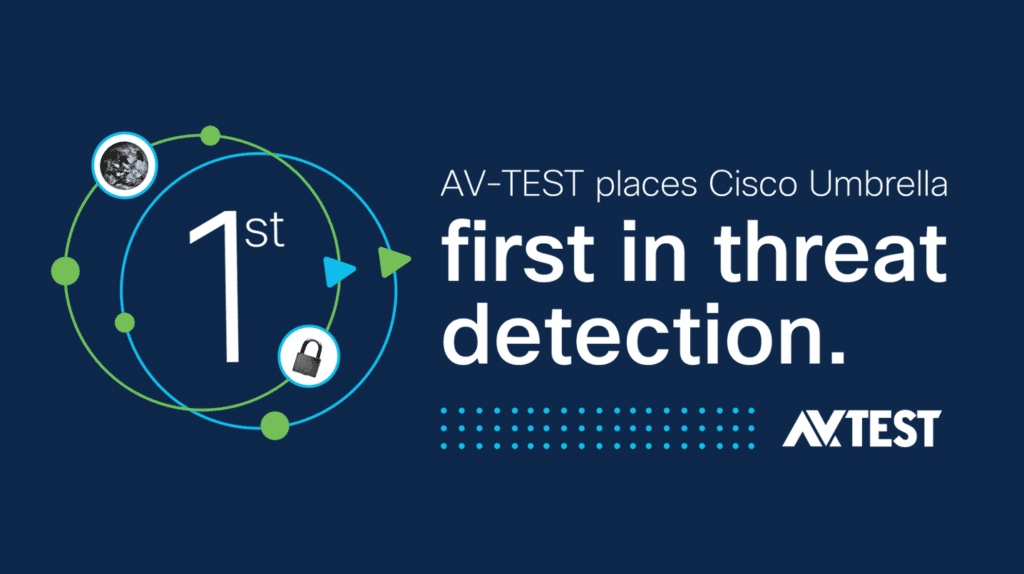 AV-TEST rated Cisco Umbrella first place in threat detection
