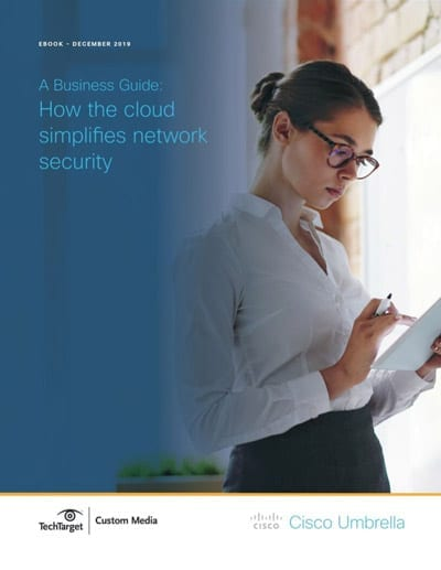 How the cloud simplifies network securilty ebook cover
