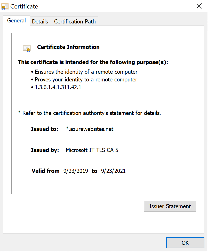 Example of fake SSL Certificate - Cisco Umbrella blog