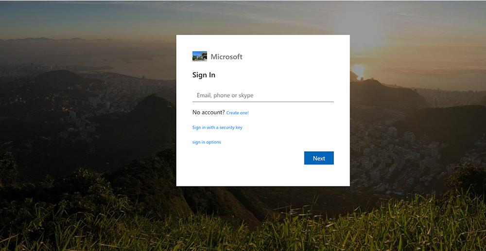 Example of fake login page - Cisco Umbrella blog