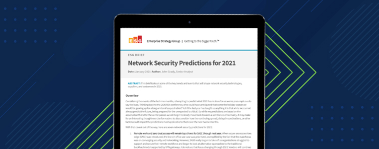 ESG Analyst Report - Network security predictions for 2021