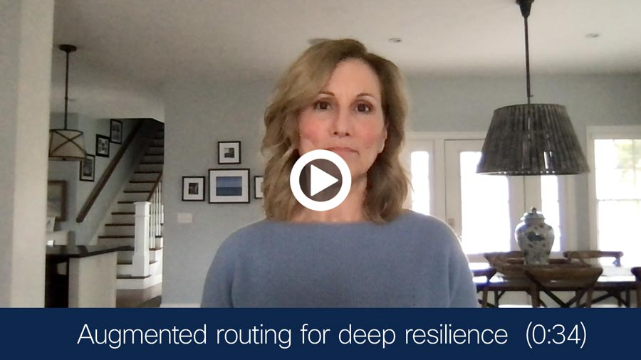 Video - Augmented routing for deep resilience