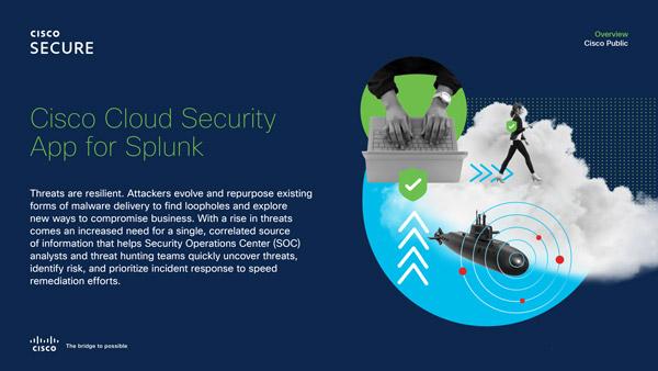 Cisco Cloud Security App for Splunk data sheet